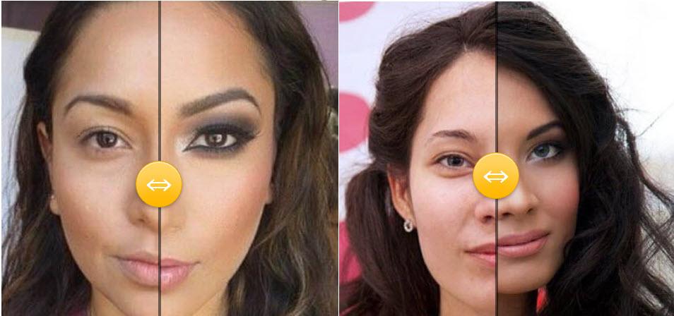 Šminka primeri pre i posle – Brinete