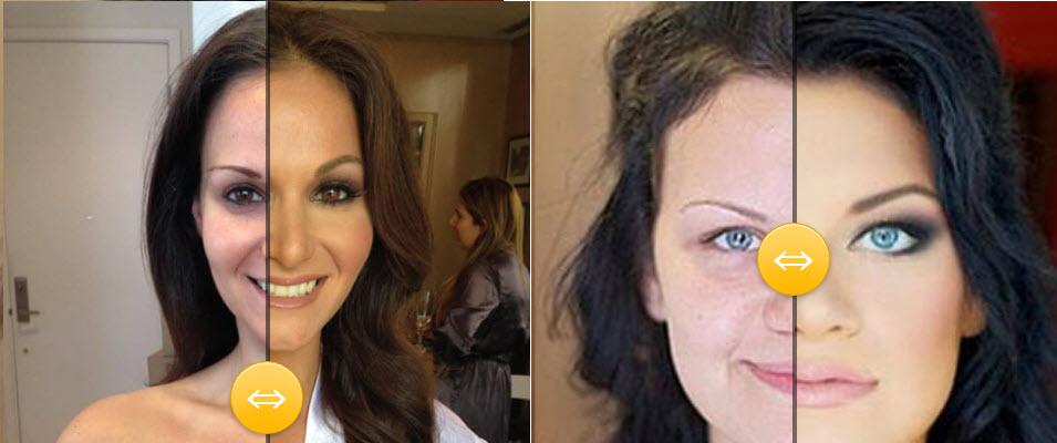 Šminka primeri pre i posle – Brinete 2