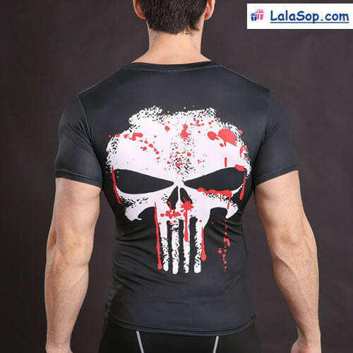 Punisher t-shirt elastic